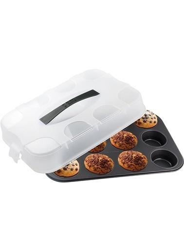 Zenker Zenker 7900 Special Go To Teflon Kaplama Kapaklı 12'li Muffin Kalıbı Renkli